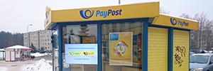 Lithuania optimizes its postal service with the introduction of a digital signage network