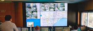 TMS of Malaga monitors the fleet in real time from a Userful videowall