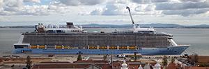 Riedel conecta el equipamiento AV que utiliza el crucero Athem of the Seas para sus espectáculos