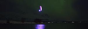 La tecnología de Wireless Solution permite filmar el vuelo de Horacio Llorens en plena Aurora Boreal