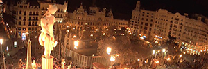 Las Fallas de Valencia will again be retransmitted live from Mobotix cameras