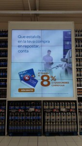 Neo Advertising Carrefour videowall LG