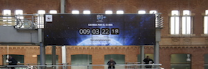 Counting down the Earth Hour begins in the Spanish train stations videowalls