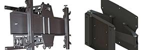 Unicol Pla3 y Pla4: soportes de pared articulados para pantallas de gran formato