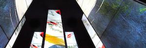 Panasonic muestra la visión de Japón en el mundo con un espectacular videowall de 140 pantallas