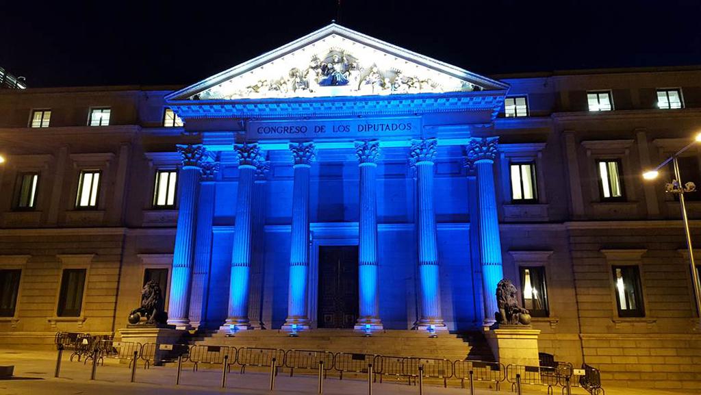 El congreso de los diputados se viste de color con la - Iluminacion decorativa exterior ...