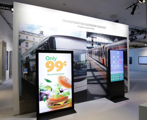 Samsung digital signage transporte