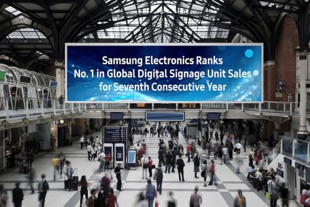 Samsung ranking digital signage mundial