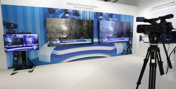 Samsung videowall broadcast
