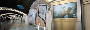 Sanitas utiliza el circuito de marketing espectacular de Puerta de Atocha para su campaña publicitaria