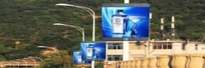 City Led Street: pantallas publicitarias para exterior y colocación en farolas