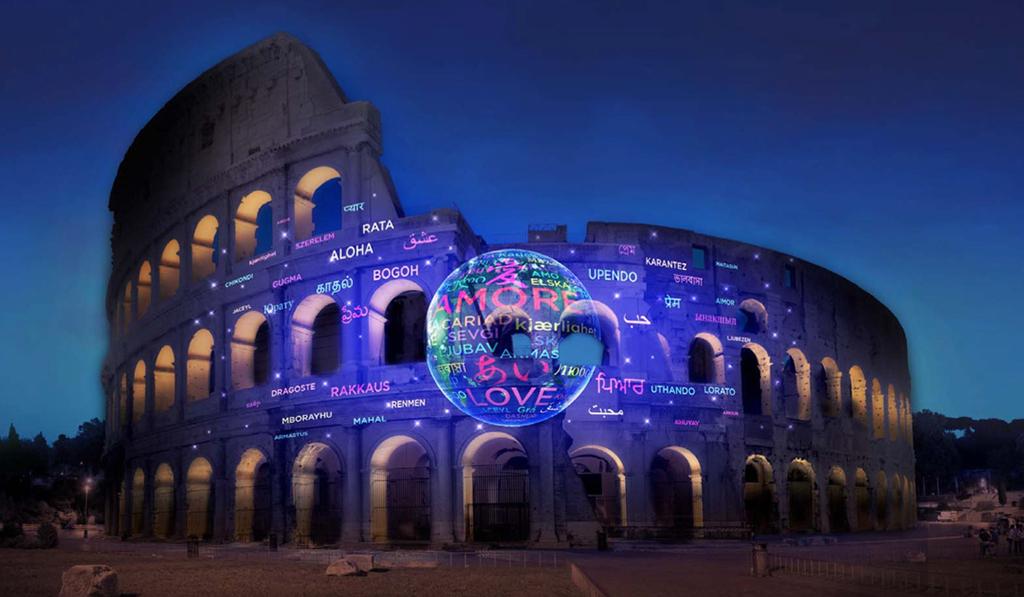 Panasonic Convierte El Coliseo Romano En Un Símbolo De Paz Y