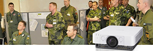 The Swedish armed forces opt for the laser projection to protect your confidential information