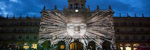 Salamanca transforms its buildings into a visual spectacle during the Festival of light and avant-garde