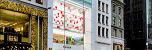 Arte y cultura protagonizan el gran videowall de la flagship store de Microsoft en Nueva York