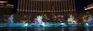 Panasonic helps in the creation of the Kabuki for the Bellagio Hotel in Las Vegas show