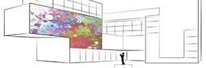 Xavi Bové crea una instalación interactiva de gran formato que combina mapping y creative coding