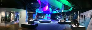 Las instalaciones AV del Museo Olímpico de Noruega rememoran la historia de los Juegos