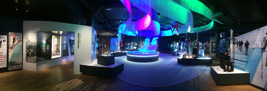 ノルウェーのオリンピック博物館 AV 設備を思い出すゲームの歴史