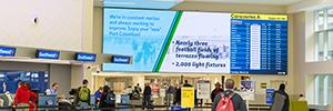 El aeropuerto Port Columbus gestiona su red de digital signage con Omnivex
