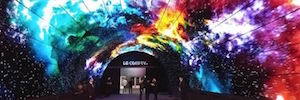 Technology OLED from LG is transformed into a spectacular visual tunnel in IFA 2016