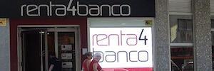Renta4 renueva su circuito de digital signage con pantallas Led de Rotuloselectronicos.net