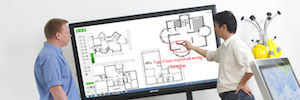 Sharp reinforces its interactive monitors cooperation in classrooms and meeting rooms