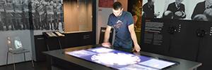 Pan Tadeusz Polish museum visitors interact with the technology MPCT Zytronic