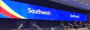 El aeropuerto de Orlando instala un videowall de gran formato en la zona de facturación