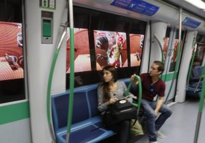 Metro Madrid advertising Dynamics Tres60, Telefónica and Adtrack