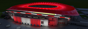 Philips Lighting provides Led lighting at the new stadium of Atlético de Madrid