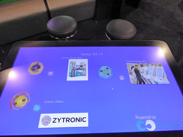 Zytronic reconocimiento de objetos en MPCT