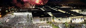La Serie V da cobertura para un espectáculo de más de 50.000 personas en el Lenox Square
