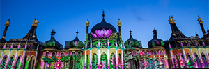 The Royal Pavilion was filled with light and color to mark the 50th anniversary of the Brighton Festival