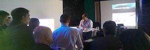 Crambo reúne a integradores y distribuidores en torno a la proyección láser Solid Shine de Panasonic