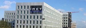 Daktronics designs a 57,81 square meters for the Belgian company Iret Led display