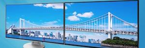 Eizo presenta sus monitores planos con marco de 1 mm para instalación multipantalla