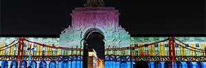 La proyección de Christie y la magia de Pandoras Box hacen posible el mapping 'Las caras de Lisboa'