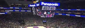 Absen and delivered the first Panasonic LED video screens 4K new NBA arena