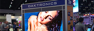 Daktronics displays at ISE 2017 the quality and reliability of their solutions Led screens UHD