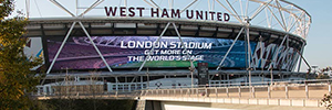 The London Stadium installs Europe's largest curve Led display