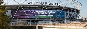 El Estadio de Londres instala la pantalla Led curva más grande de Europa