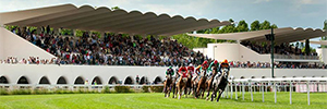 Videoreport lleva la emoción de las carreras de caballos a las pantallas del Hipódromo de la Zarzuela