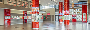 Hy-Vee performs a retrospective of its history with curves screens NanoLumens