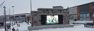 El centro comercial Park Place instala una solución de digital signage adaptada a la climatología de Canadá