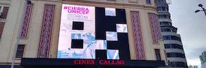 cierraUnicef también apagará con ayuda de todos la pantalla gigante de la Plaza del Callao