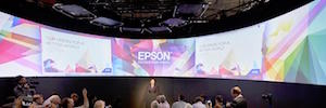 Robotics, laser projection mapping and 230th screen, Epson proposal at CeBIT 2017