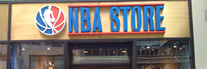 The NBA Store combines the online and physical buying with an interactive digital signage solution