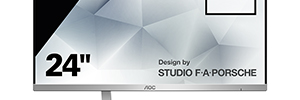 AOC and Studio F. A. Porsche develop futuristic professional monitors