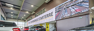 The Starterre dealer makes the difference with a large videowall LED Absen